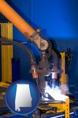 alabama an industrial welding robot