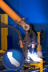 california an industrial welding robot