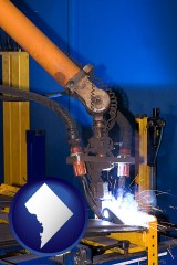 washington-dc an industrial welding robot