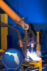 florida an industrial welding robot
