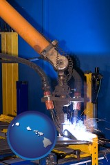 hawaii an industrial welding robot