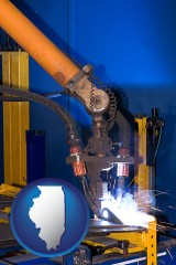illinois an industrial welding robot
