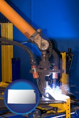 kansas an industrial welding robot