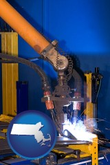 massachusetts an industrial welding robot