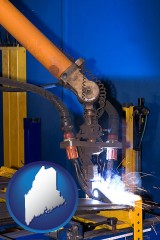 maine an industrial welding robot