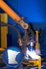 minnesota an industrial welding robot