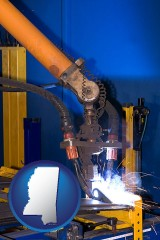 mississippi an industrial welding robot