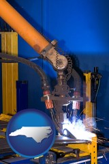 north-carolina an industrial welding robot
