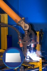 north-dakota an industrial welding robot