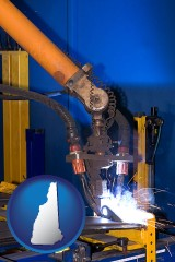 new-hampshire an industrial welding robot