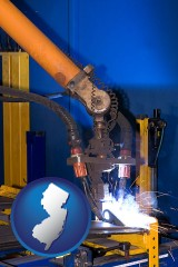 new-jersey an industrial welding robot