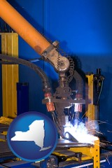 new-york an industrial welding robot