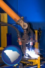 south-carolina an industrial welding robot