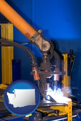 washington an industrial welding robot