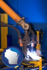 wisconsin an industrial welding robot