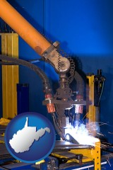 west-virginia an industrial welding robot